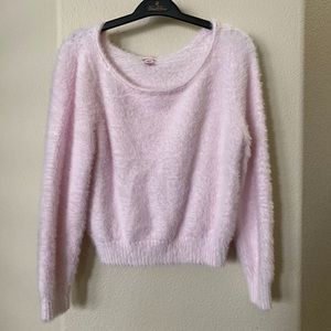 Victoria Secret fuzzy pink lounge sweater